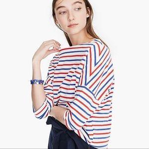 NWT J. Crew Oversized Stripe T-Shirt
